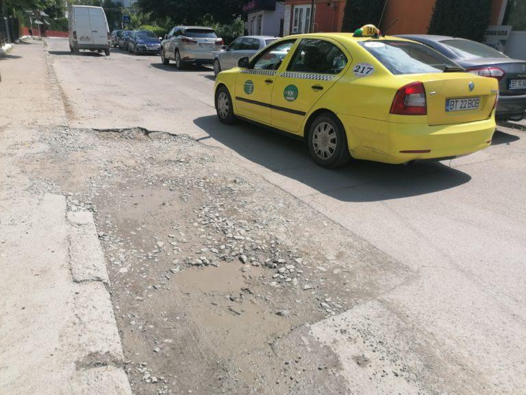 Nova Apaserv amendată pentru gropile de pe strada Nicolae Grigorescu