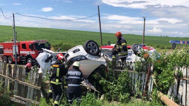 Accident grav în intersecţia morţii la Roşiori (video)