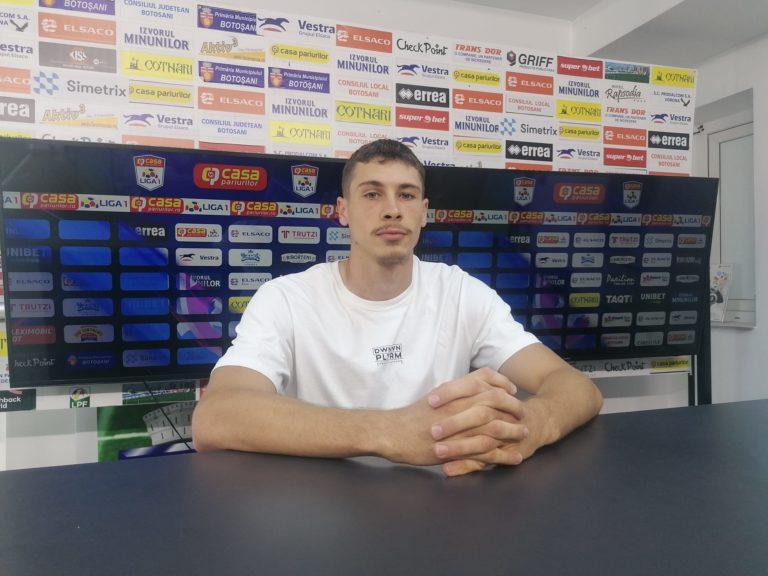 MONITORUL VIDEO: Bogdan Racovițan promite evoluții în creștere în tricoul FC Botoșani!