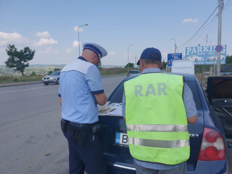 Noi controale organizate în trafic de polițiști
