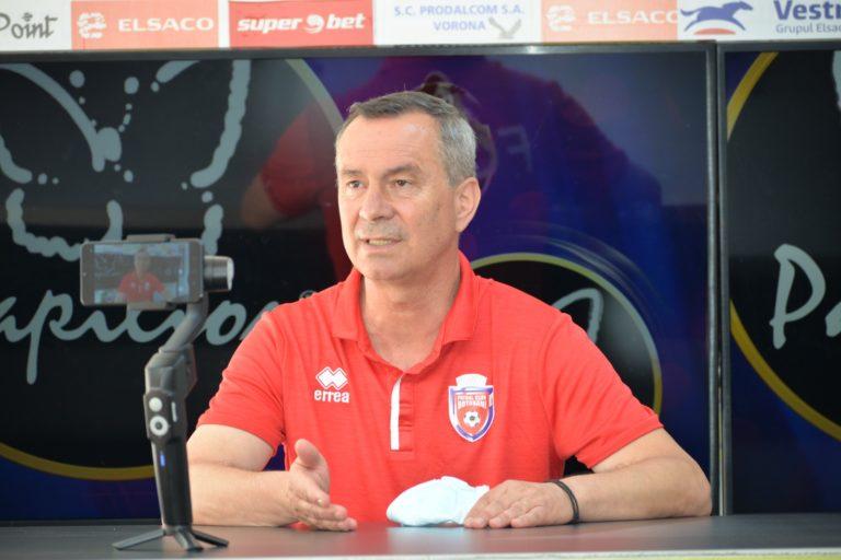 MONITORUL VIDEO: Mihai Ciobanu, sigur de un rezultat pozitiv la Voluntari!