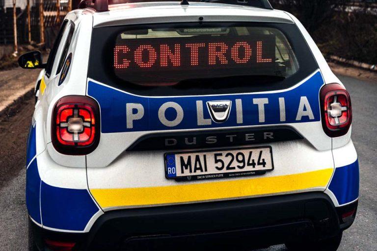 Plimbare cu mașina terminată la poliție