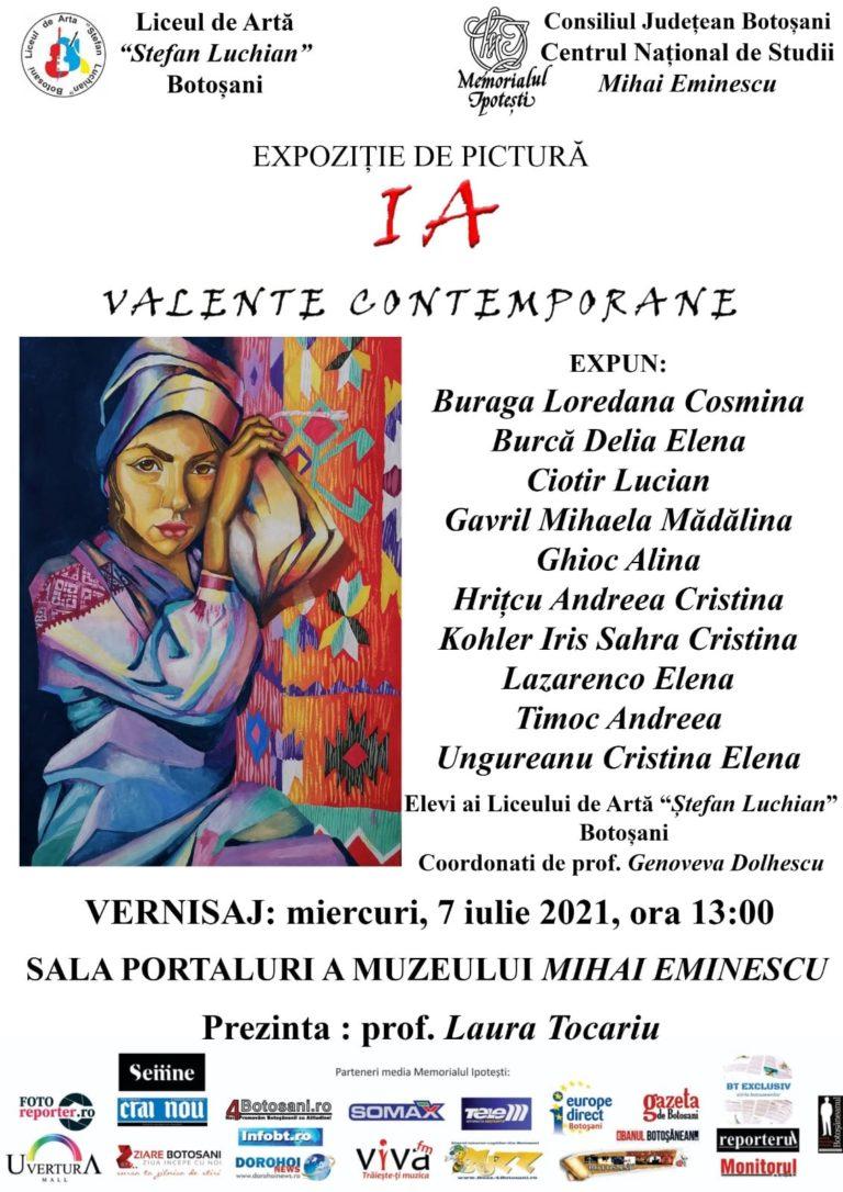 Expoziție de pictură, la Memorialul Ipotești
