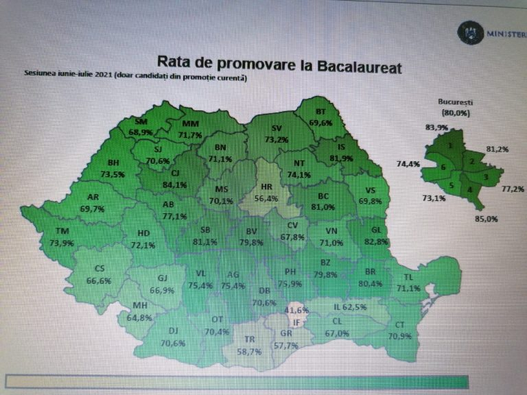 Bacalaureat 2021 – Judeţul Botoşani este ultimul pe Moldova după rata de promovare