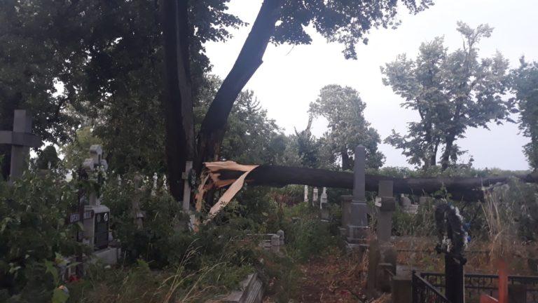 Cimitir îngenuncheat de furtună