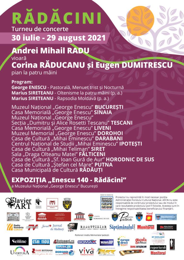 """Turneul de concerte """"Rădăcini"""", se va desfășura și în trei localități botoșănene"""