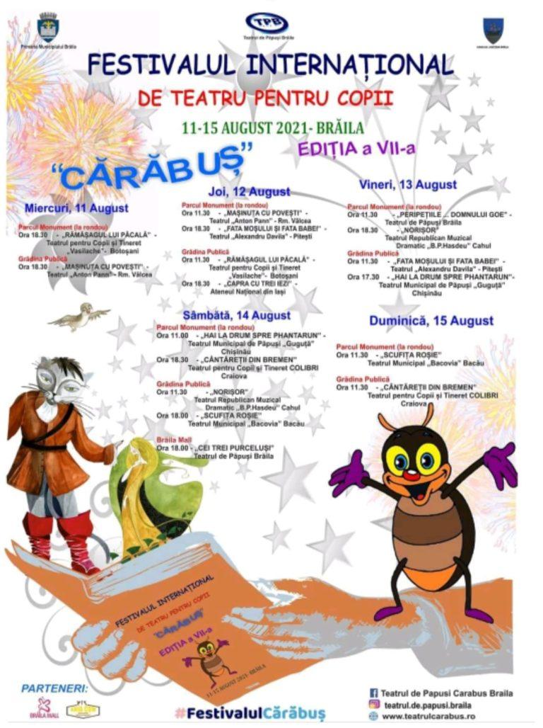 """Teatrul """"Vasilache"""", pe scena unui festival organizat la Brăila"""