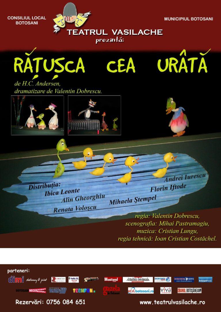 """Spectacol pentru cei mici la Teatrul """"Vasilache"""""""