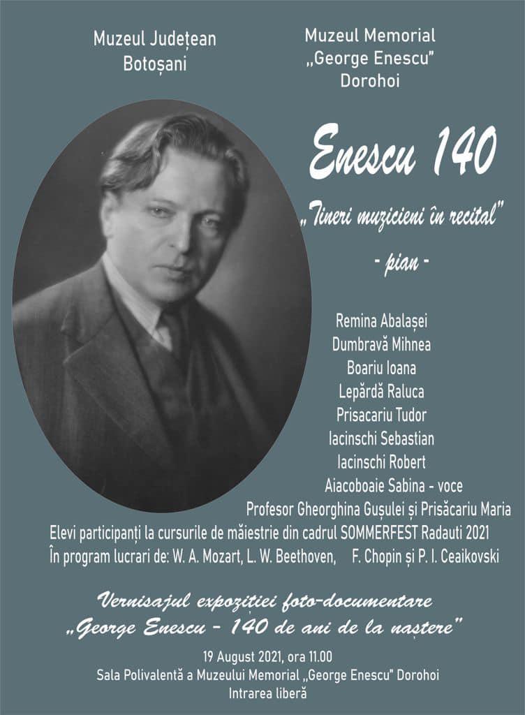 George Enescu, omagiat la Dorohoi