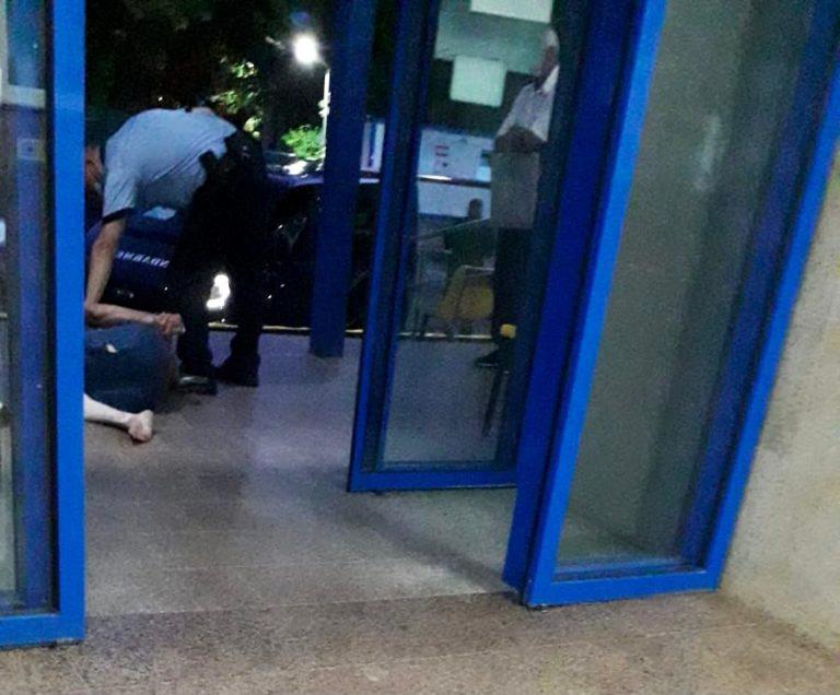Pacient potolit cu trupele speciale în Spitalul Județean (video)