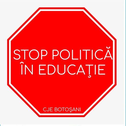 Petiţie online pentru stoparea jocurilor politice din sistemul educaţional botoşănean