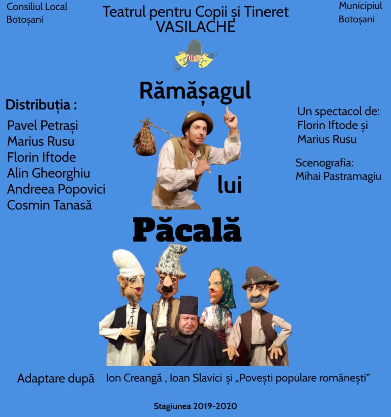 """Spectacol pe scena Teatrului """"Vasilache"""""""
