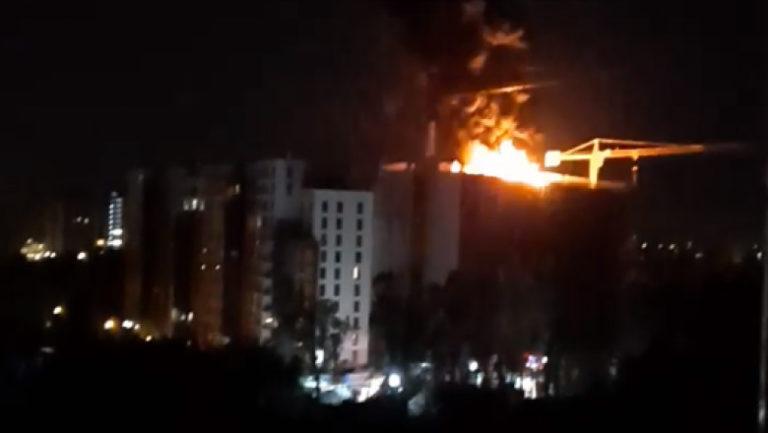 Incendiu urmat de o serie de explozii în capitală