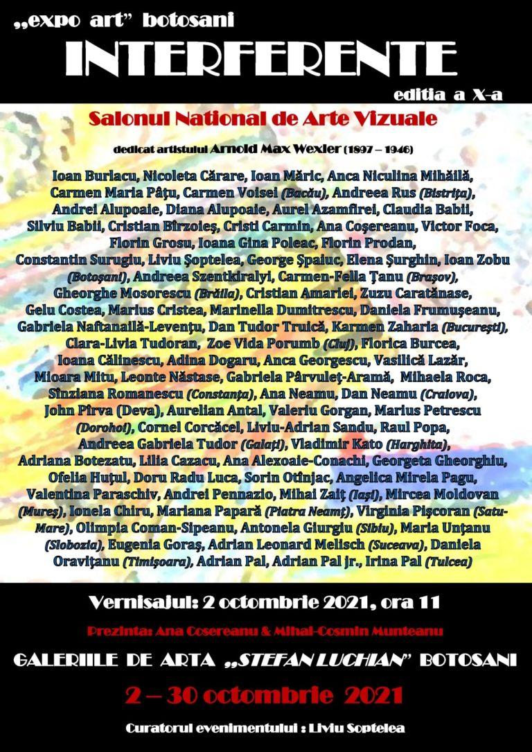 """Salon Național de Arte Vizuale la Galeriile de Artă """"Ștefan Luchian"""""""