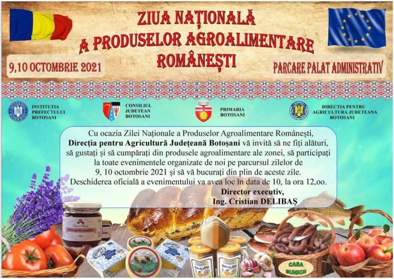 Ziua Națională a Produselor Agroalimentare Românești, sărbătorită la Botoșani