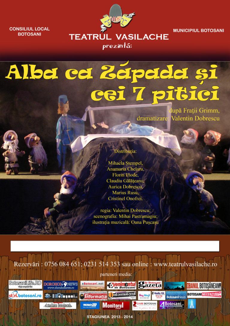 """Spectacol dedicat celor mici la Teatrul """"Vasilache"""""""